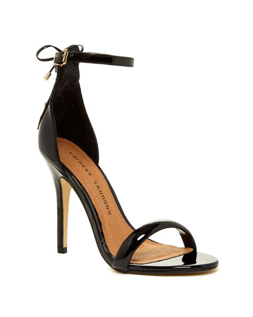Chinese Laundry | Black Jealous Laced Sandal | Lyst