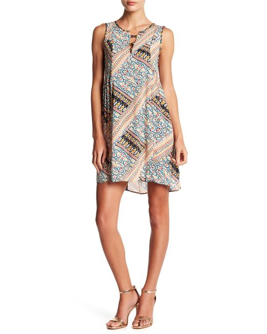 BCBGeneration - Multicolor Patchwork Lattice A-line Dress - Lyst