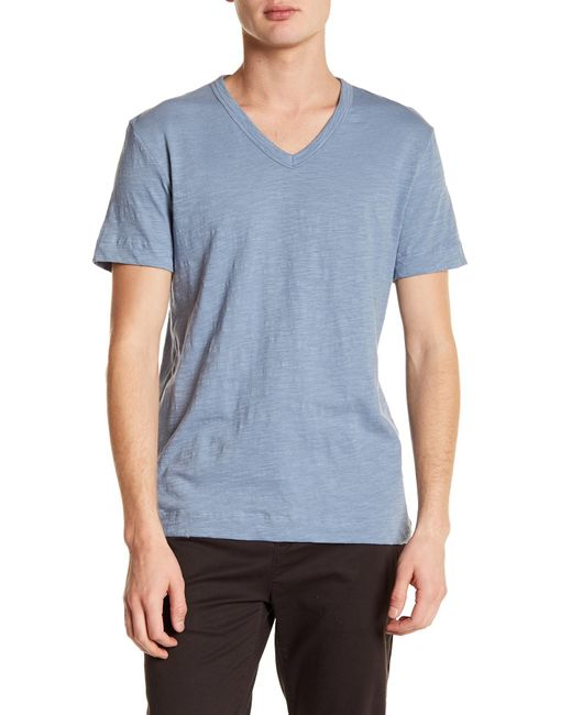 Theory - Blue Strato-gaskell V-neck Tee for Men - Lyst
