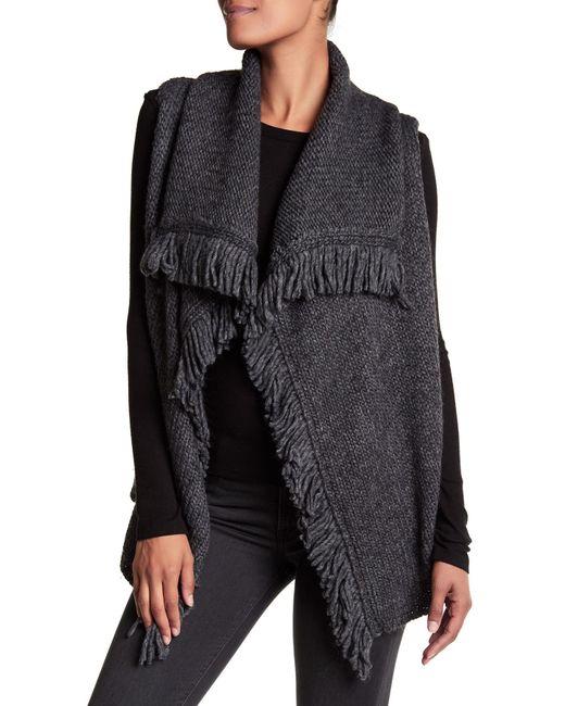 Joie | Gray Guarine B Fringe Knit Vest | Lyst