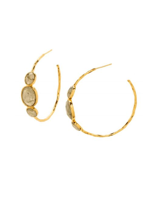 Gorjana - Metallic Havana Labradorite Hoop Earrings - Lyst