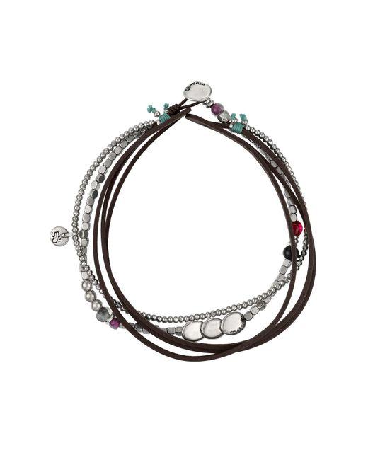 Uno De 50   Brown Heavy Treasure Multistrand Leather Bracelet   Lyst
