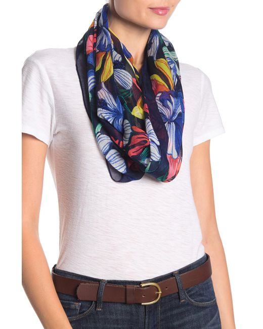 Tommy Bahama Blue Hibiscus Sketch Infinity Scarf
