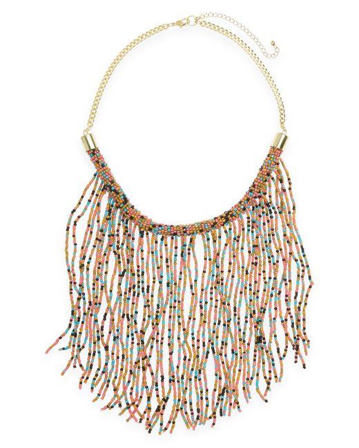 Panacea | Multicolor Beaded Fringe Statement Necklace | Lyst