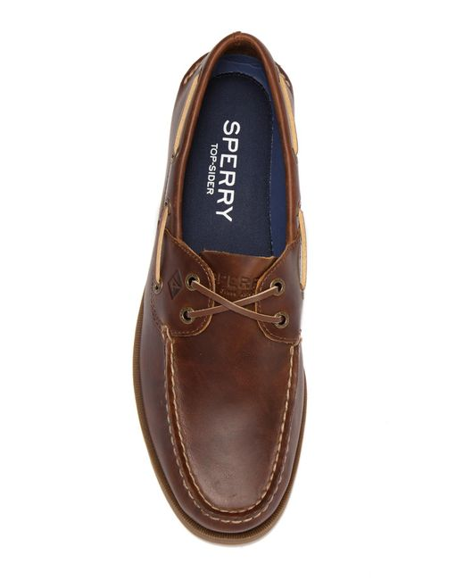 4bca2cebcc3 ... Sperry Top-Sider - Brown Leeward Cross Lace Leather Loafer for Men -  Lyst ...