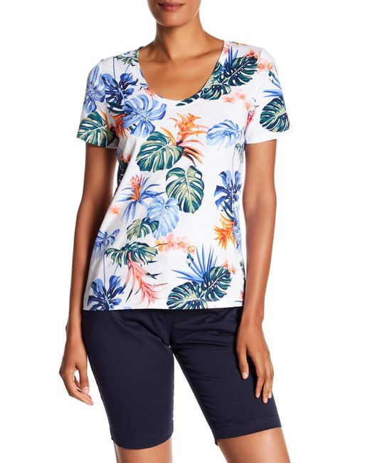 Tommy Bahama - White Bogart Blooms Short Sleeve Top - Lyst