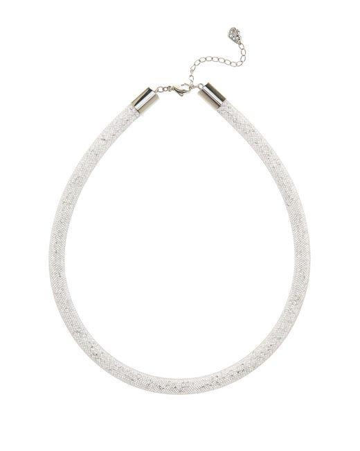 Swarovski - White Stardust Crystal Filled Mesh Necklace - Lyst