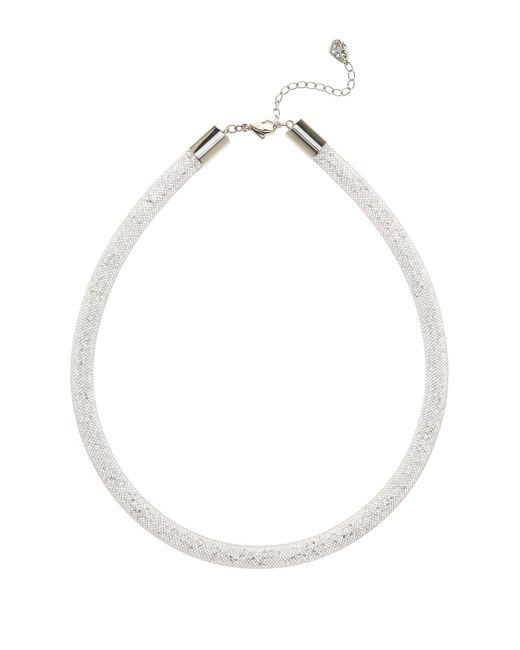 Swarovski | White Stardust Crystal Filled Mesh Necklace | Lyst