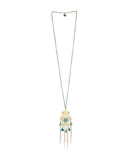Mishky - Metallic Hamsa Fili Tassel Chain Necklace - Lyst