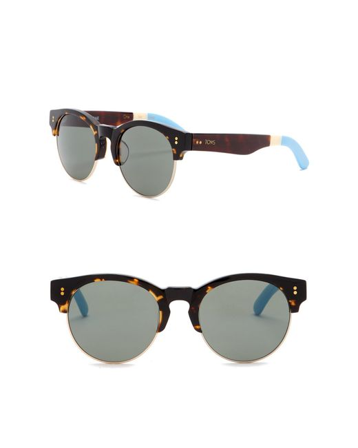 TOMS - Multicolor Charlie Rae 52mm Clubmaster Sunglasses - Lyst