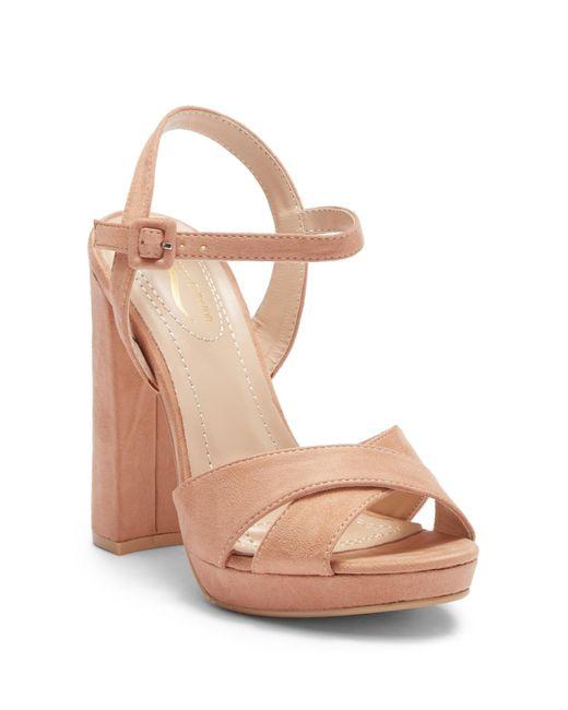 Elegant Footwear - Natural Dollie Platform Ankle Strap Sandal - Lyst