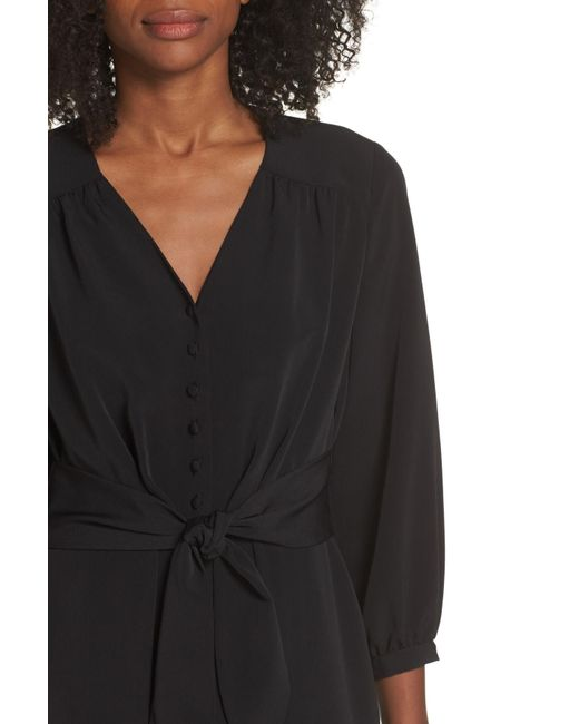 091aea36f9b Lyst - Maggy London Feather Crepe Jumpsuit in Black - Save 60%