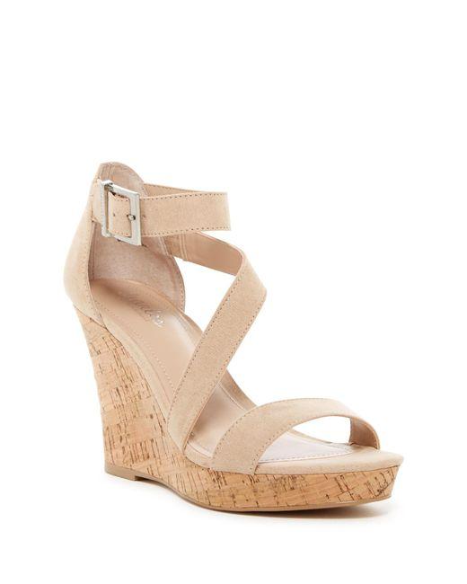 Charles David | Natural Leanna Cork Wedge Sandal | Lyst