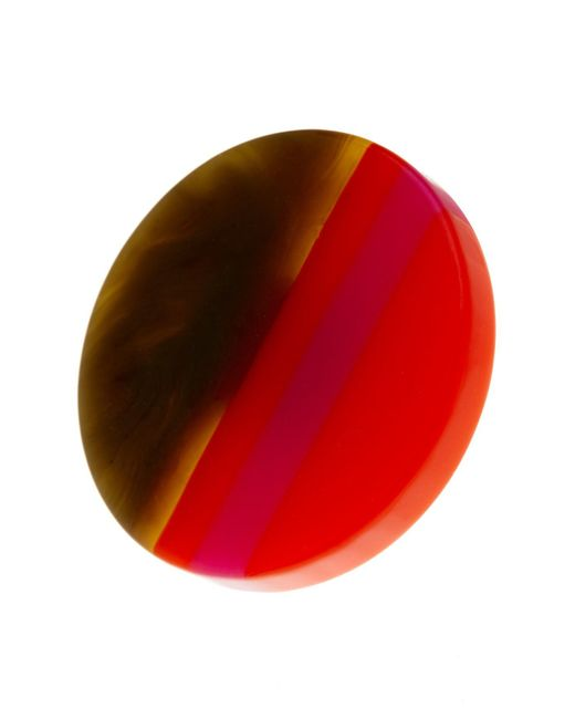 Trina Turk | Red Large Multicolor Resin Disc Ring - Size 7 | Lyst