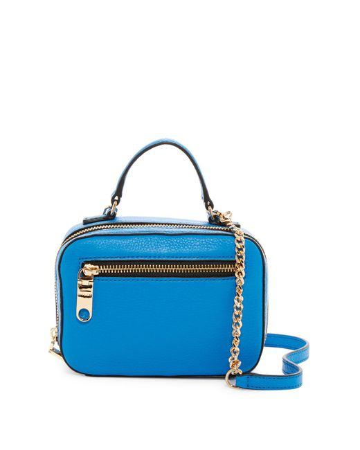 MILLY - Blue Astor Leather Mini Satchel - Lyst