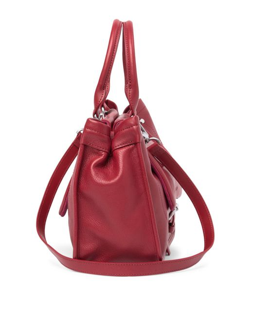 978a9114580 ... Longchamp - Red Balzane Leather Flap Satchel - Lyst ...