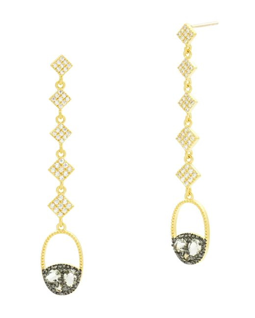 Freida Rothman - Metallic Rose D'or Drop Earrings - Lyst