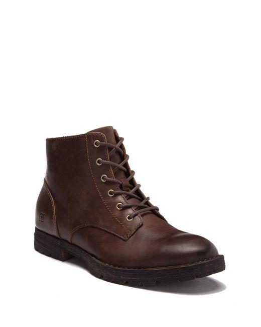 de935f95d2de Born - Brown Hollis Plain Toe Leather Boot for Men - Lyst ...
