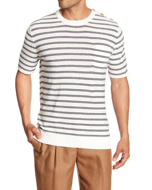Barque - White Nautical Crew Neck Shirt for Men - Lyst