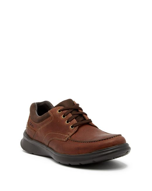 Clarks - Brown Cotrell Edge Leather Sneaker for Men - Lyst