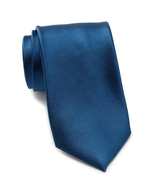 Thomas Pink - Blue Barton Plain Silk Tie for Men - Lyst