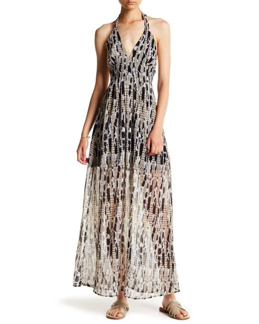 Jack BB Dakota | Black Willow Halter Maxi Dress | Lyst
