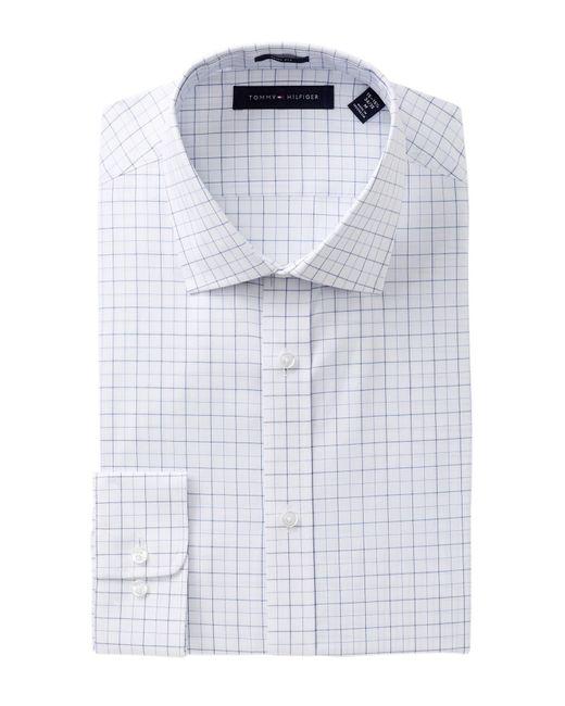 Tommy Hilfiger - Blue Tattersall Slim Fit Dress Shirt for Men - Lyst