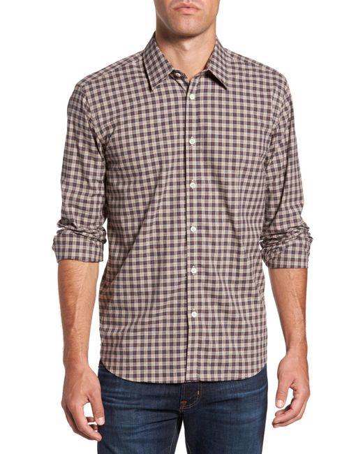 Jeremy Argyle Nyc - Brown Comfort Fit Plaid Sport Shirt for Men - Lyst