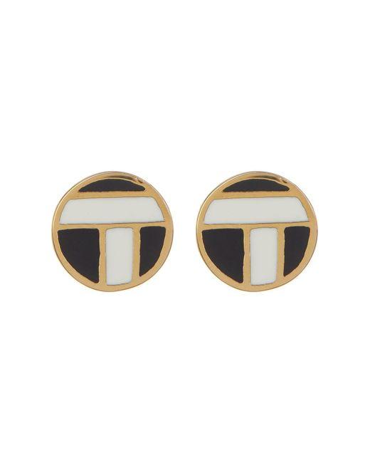 Trina Turk - Multicolor Enamel Accent Stud Earrings - Lyst