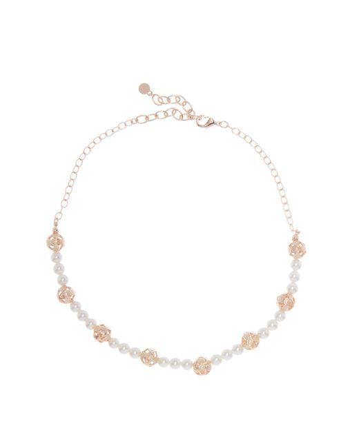 BaubleBar - White Amorelle Faux Pearl Beaded Necklace - Lyst