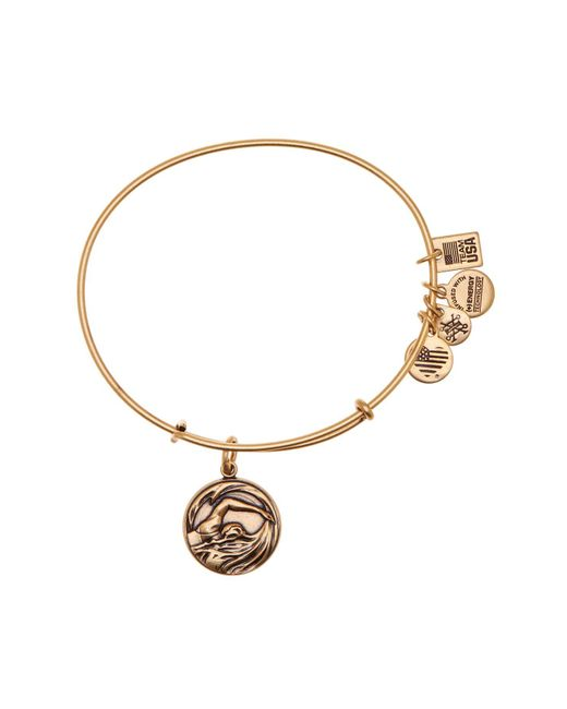 ALEX AND ANI - Metallic Team Usa Swimming Expandable Wire Charm Bracelet - Lyst