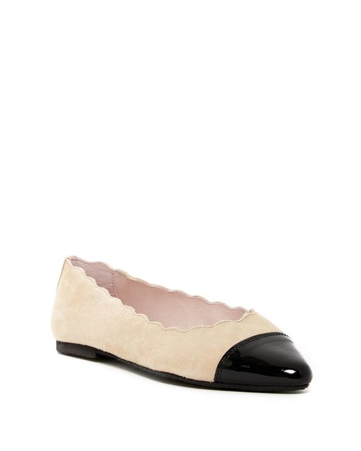 Patricia Green | Natural Saucy Scallop Ballerina Flat | Lyst