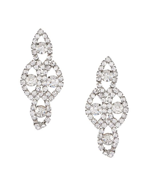 Joe Fresh | Metallic Pave Crystal Chandelier Earrings | Lyst