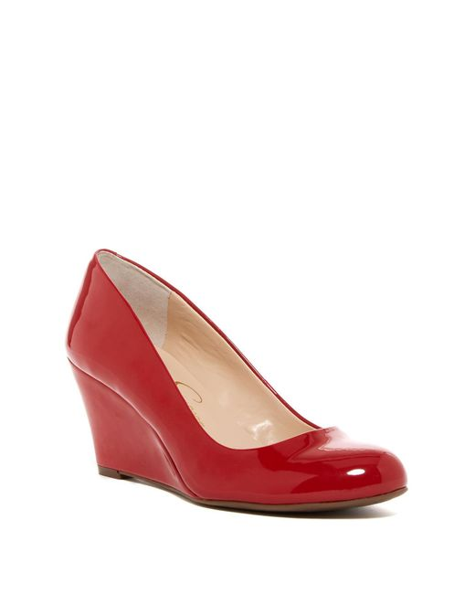 Jessica Simpson | Red Suzanna Wedge Pump - Multiple Widths Available | Lyst
