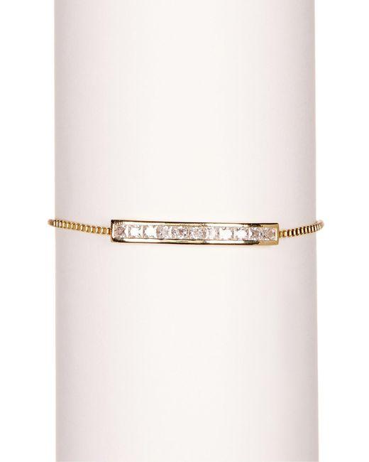 Kenneth Jay Lane   Metallic Princess Cz Bar Bracelet   Lyst