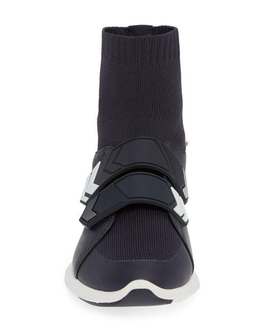 e0474dac62b1 ... Tory Sport - Blue Tory Burch Women s Chevron Leather   Knit High Top  Sneakers ...
