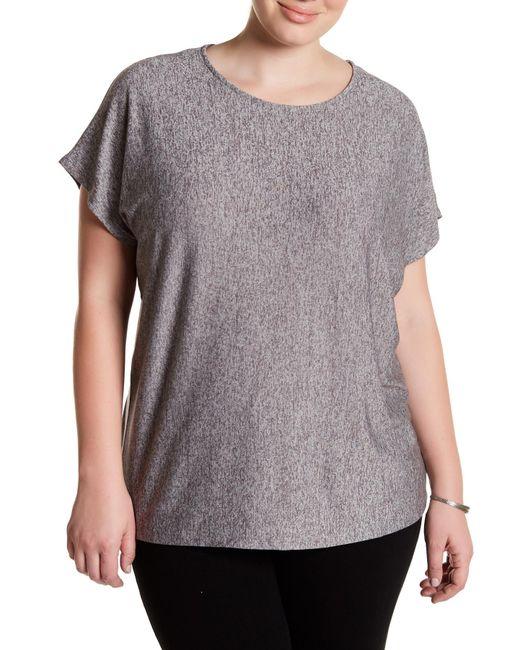 Premise Studio | Gray Space-dye Knit Tee (plus Size) | Lyst