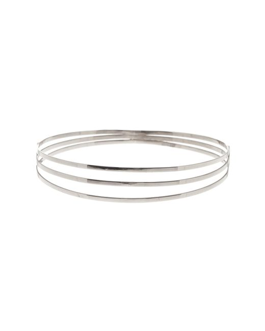 Lana Jewelry - Metallic 14k White Gold Triple Row Bangle Bracelet - Lyst