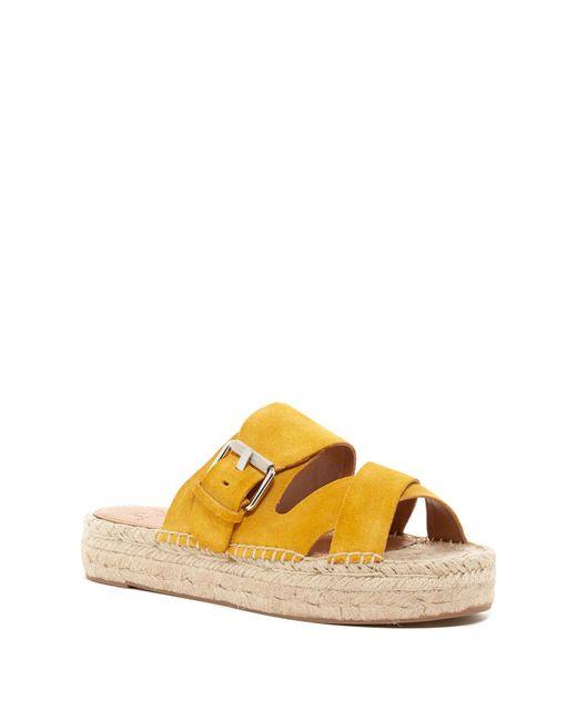 Marc Fisher | Yellow Venita Espadrille Sandal | Lyst
