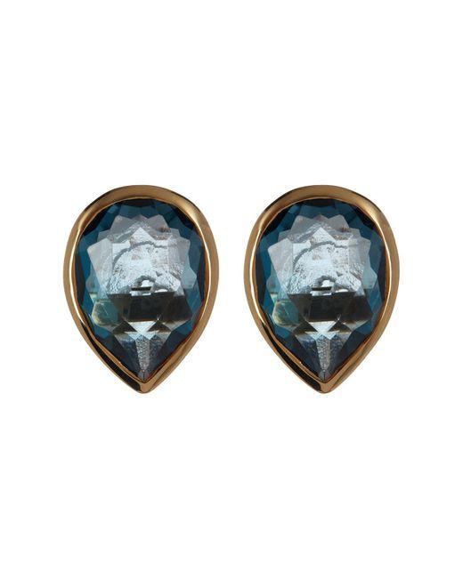 Ippolita - Metallic 18k Yellow Gold Rock Candy Pear Cut London Blue Topaz Stud Earrings - Lyst
