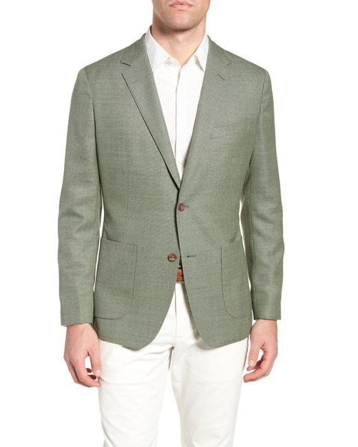 Bonobos - Green Trim Fit Wool Unconstructed Blazer for Men - Lyst