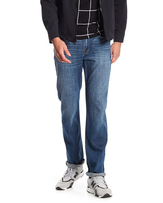 7 For All Mankind - Blue Standard Slim Straight Jeans for Men - Lyst