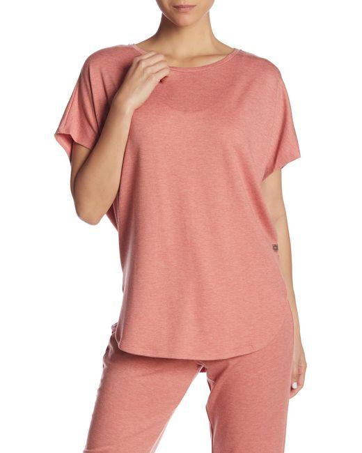 Natori - Orange Zen Short-sleeve Caftan Top - Lyst