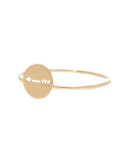Bony Levy | Metallic 14k Yellow Gold Arrow Cutout Stackable Ring | Lyst
