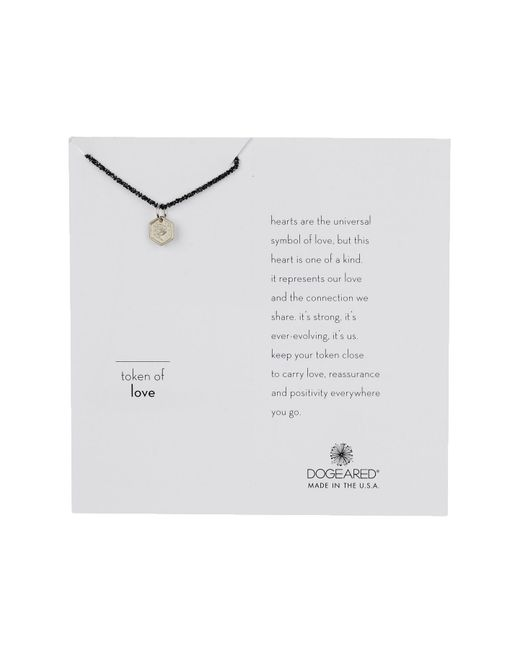 Dogeared - Metallic Sterling Silver Token Of Love Rose Necklace - Lyst