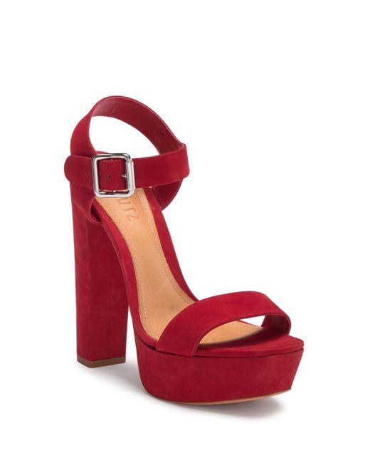 Schutz - Red Tamille Platform Y-strap Sandal - Lyst