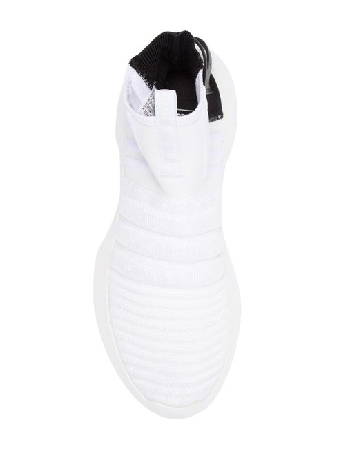 size 40 3394d 9d311 ... Adidas - White Crazy 1 Adv Sock Pk Sneaker for Men - Lyst ...