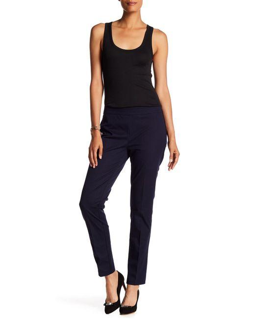 Eileen Fisher | Blue Slim Trouser | Lyst