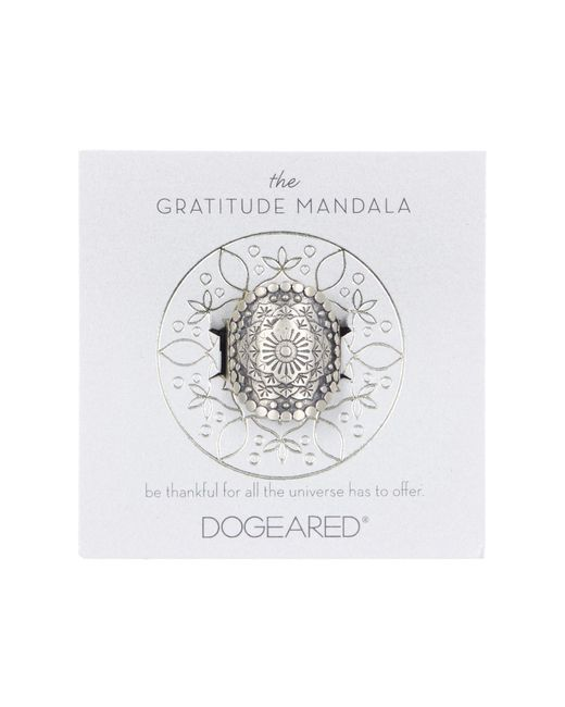 Dogeared - Metallic The Gratitude Mandala Ring - Size 5 - Lyst