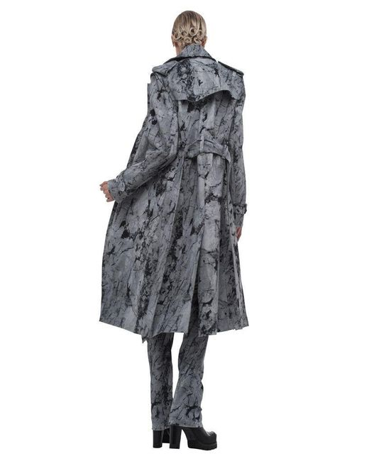 Norma Kamali | Gray Double Breasted Wrap Trench | Lyst